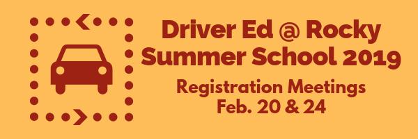 Driver Ed Summer School meetings