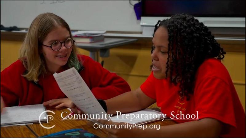 Two students from Community Prep