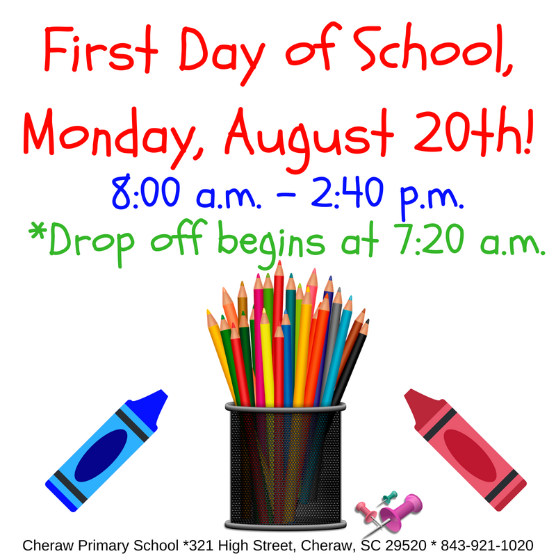 First Day of School: Monday, August 20th Featured Photo