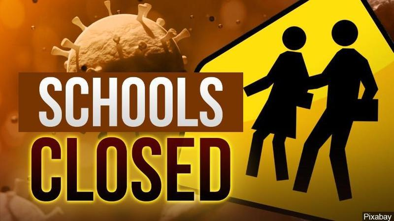 schools closed sign