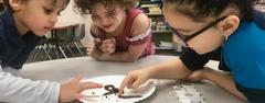 North Elementary pre-kindergartners learned about living vs. non-living things in science. They ended the week by observing, measuring, comparing, and recording data about their findings about real worms and gummy worms.