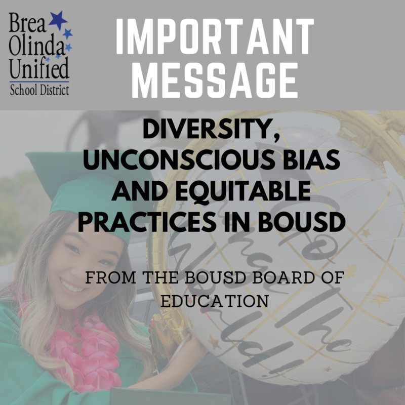 Diversity Letter from the BOUSD Board of Education