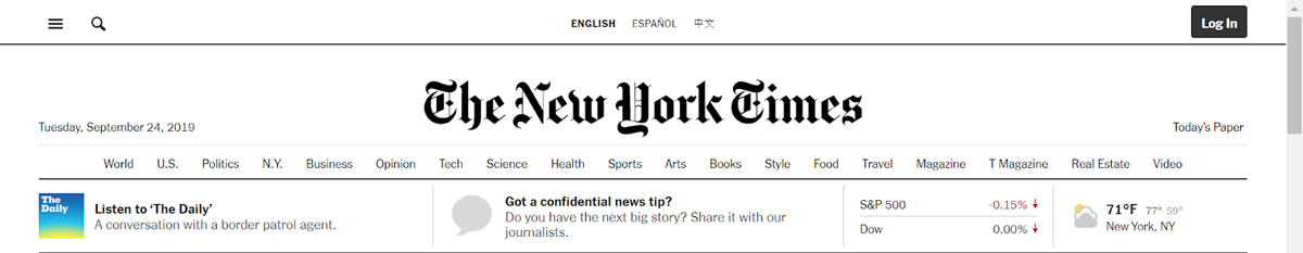 image of new york times