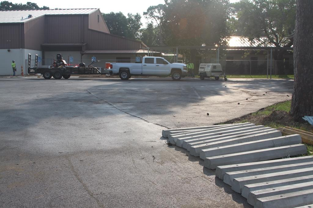 LJH parking lot for student drop-off area