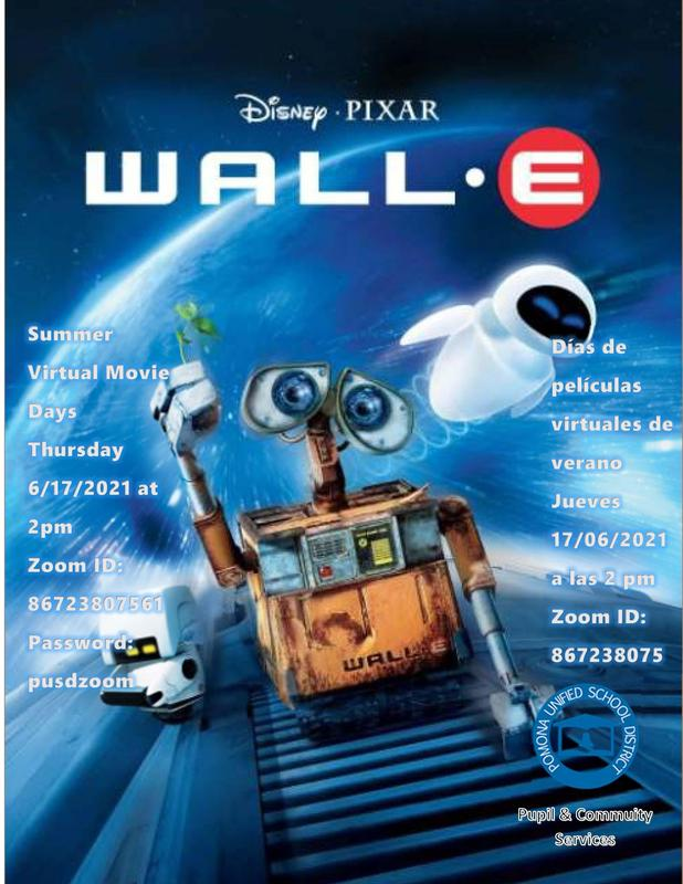 WALL E Movie flyer