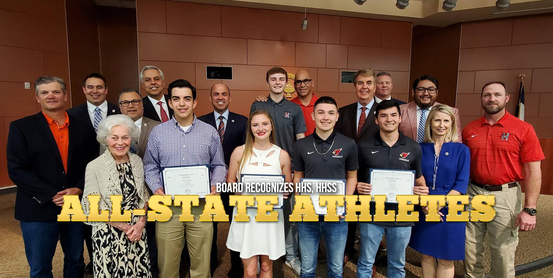 Board recognizes HHS, HHSS All-State athletes