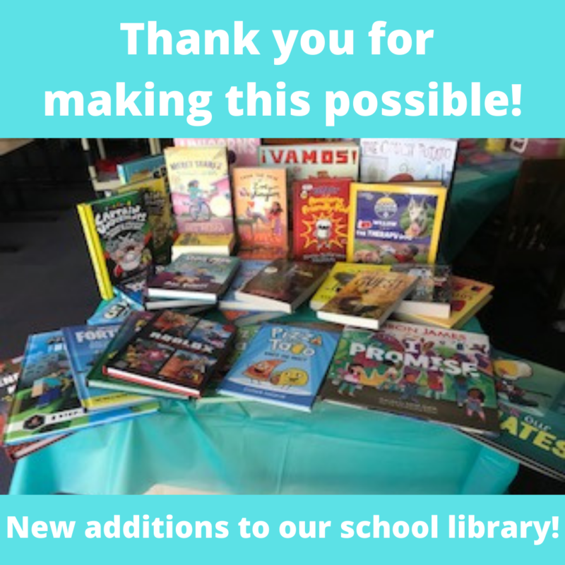 Thank you for supporting our Book Fair! Featured Photo