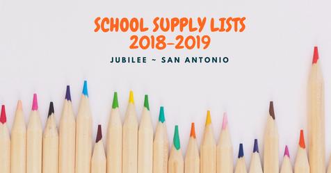 2018-19 School Supply Lists