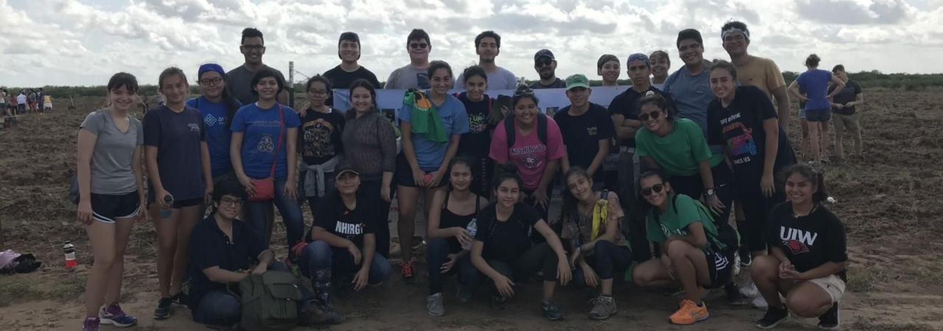 Lamar students doing community service
