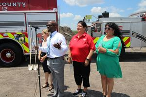 Groundbreaking ceremony of new fire station