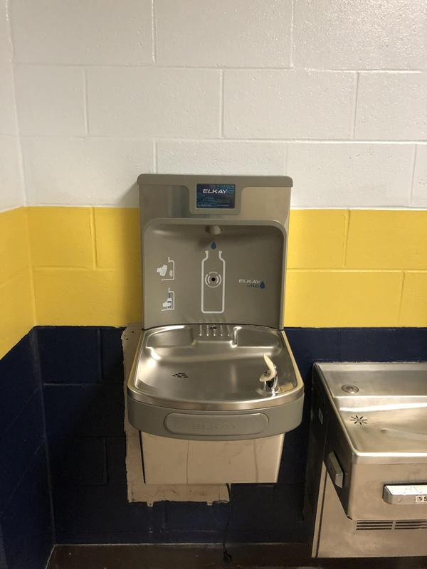 Bottle filling station at Sycamore High School