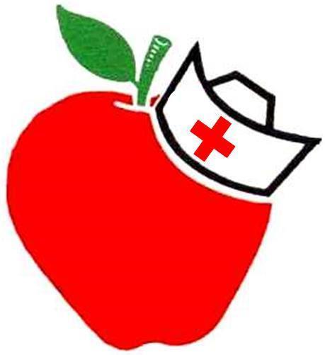 Apple with School Nurse Hat