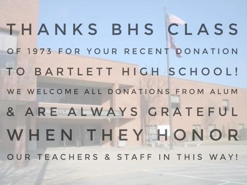 thank you to bhs class of 1973