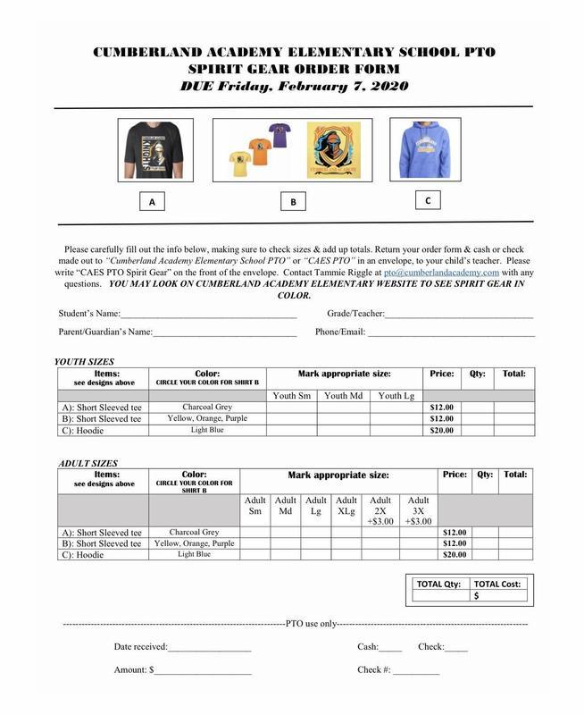 CAES Spring PTO Shirt Order.jpg