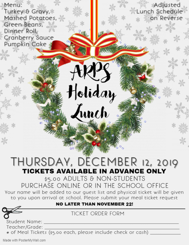 Flyer for Holiday Lunch