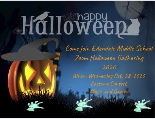 Virtual Halloween Gathering - Wednesday 10/28 12:20 - 1pm Featured Photo