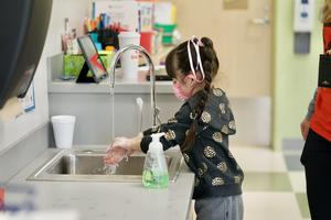 Pre-K handwashing