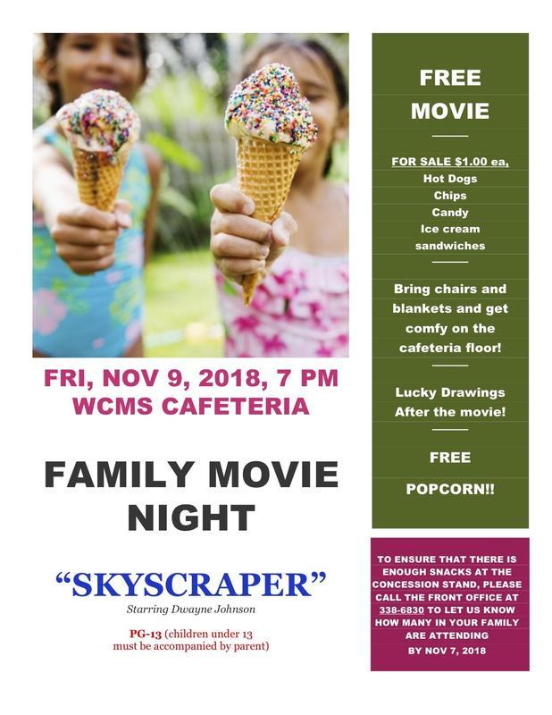 Free FAMILY MOVIE NIGHT - Skyscraper, starring Dwayne