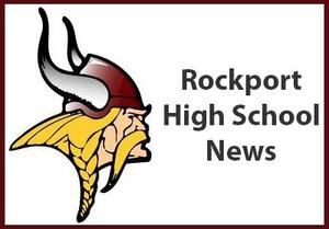 Viking logo with the Words Rockport High School news
