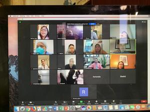 Zoom session with parents