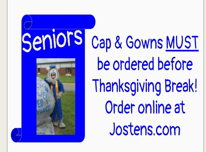 cap and gown announcement