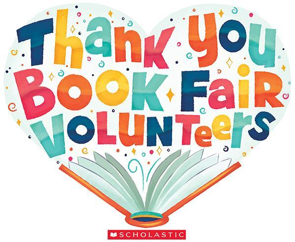 Thank you Book Fair Volunteers