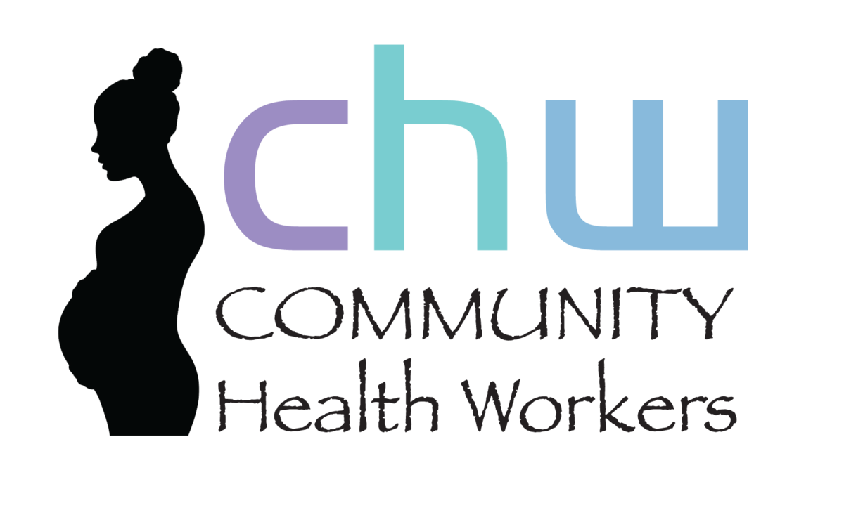 CHW logo with silhouette of pregnant mother