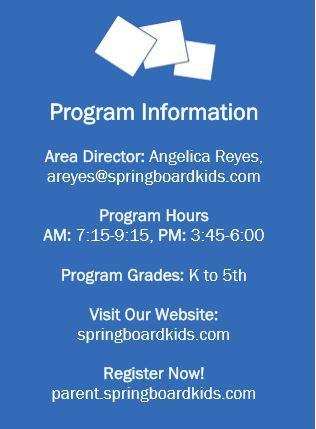 Information on how to sign up for Springboard.