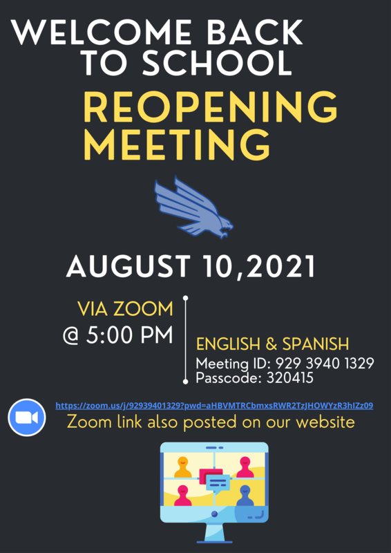 Welcome Back Flyer with Zoom Link