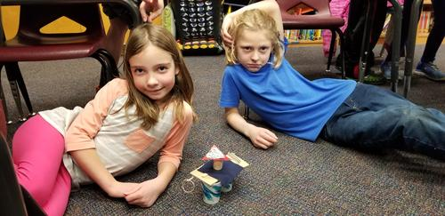More tower building with two more great kids!