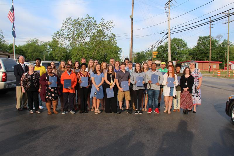 On Thursday, April 25th, thirty-seven seniors from B-L High School were recognized at the Batesburg-Leesville Chamber of Commerce breakfast at Shealy's BBQ for being named as a BLHS Honors Graduate and/or an Associate of the Arts degree recipient from Midlands Technical College.