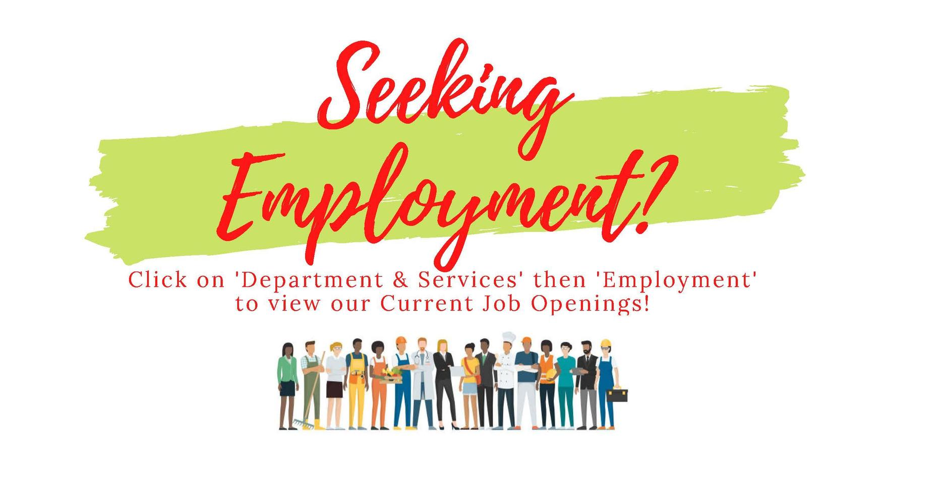 Employment opportunity notice
