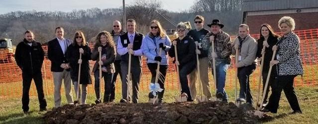 School Board Members, Director of Schools, MCHS Admin, and Community at MCHS Groundbreaking