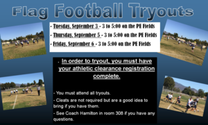 Flag Football Tryouts