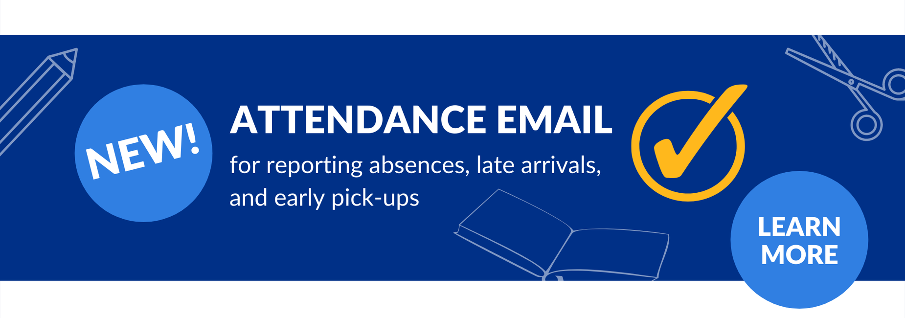 New Attendance Email