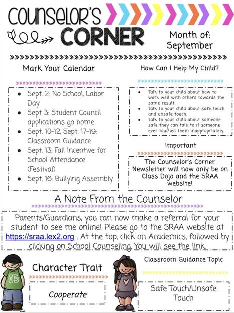 September Counselor's Corner