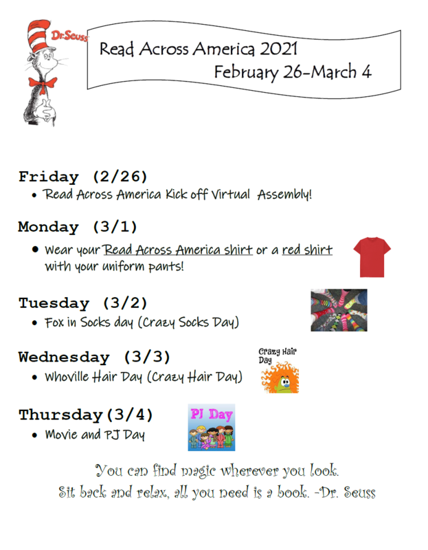 READ ACROSS AMERICA ACTIVITIES AND DRESS UP DAYS Featured Photo