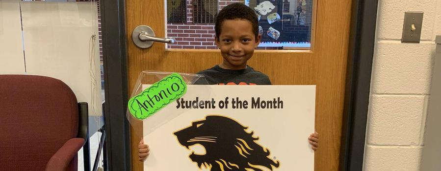 Antonio - Student of the month for Jan.