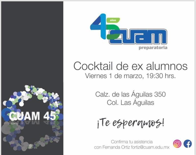 Cocktail de ex alumnos CUAM México #Cuam45 Featured Photo