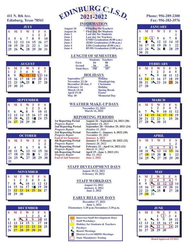 ECISD 21-22 Calendar