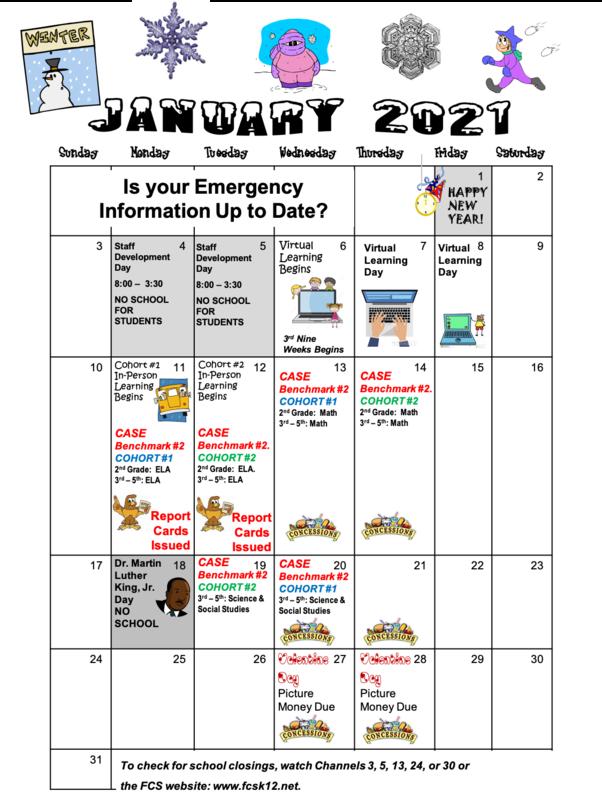 SWES January 2021 Calendar Thumbnail Image