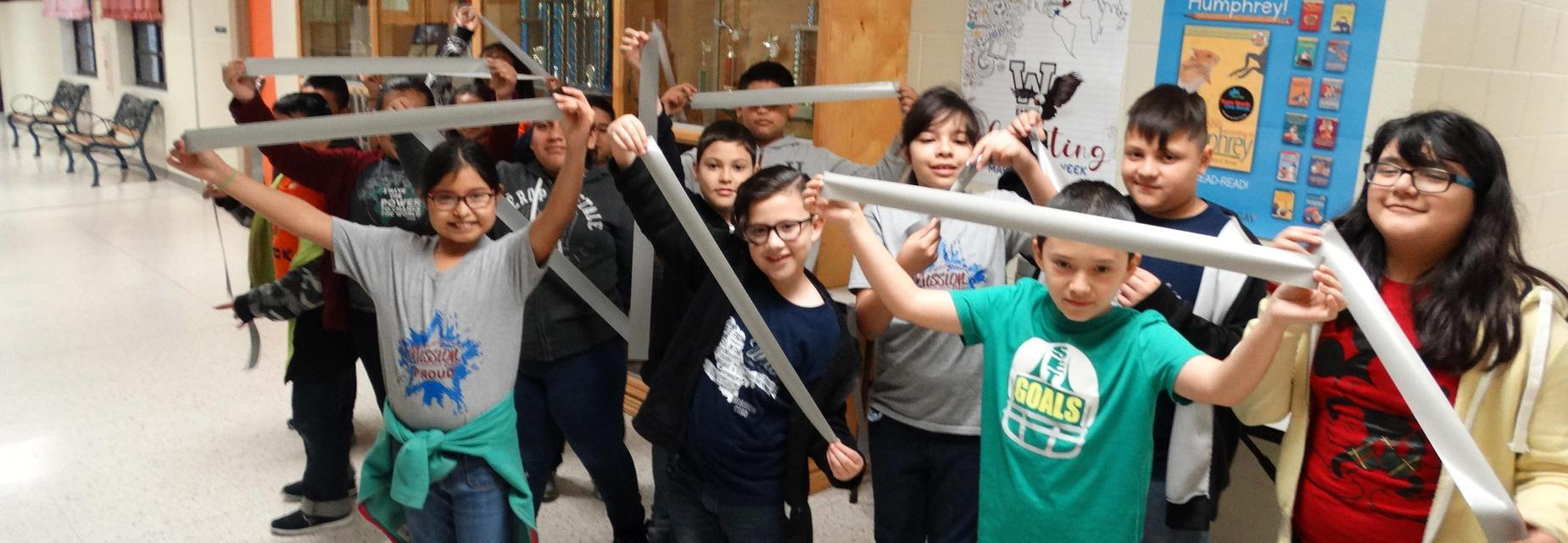 4th graders ready with duct tape