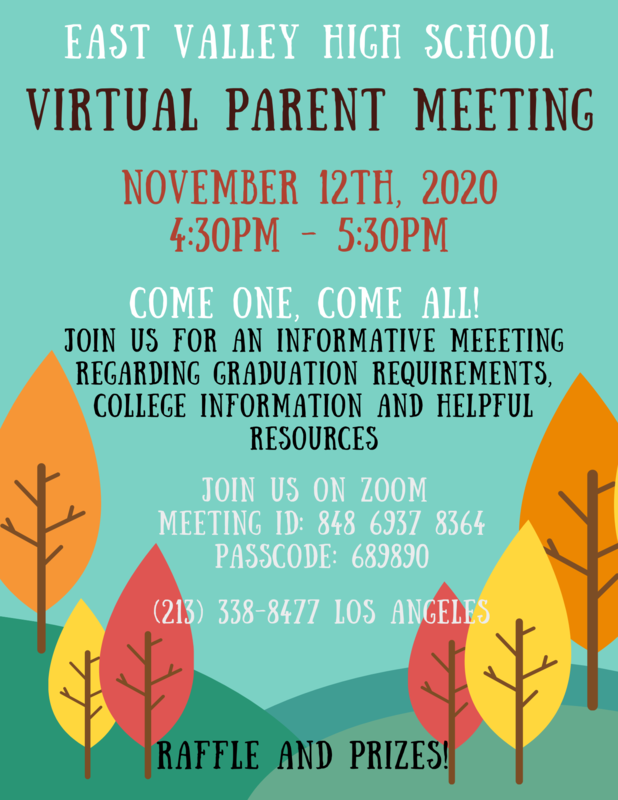 Parent Meeting Invitation Flyer