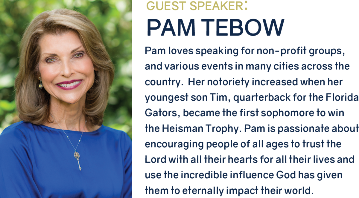 Pam Tebow to speak at SBS 40th Anniversary Gala