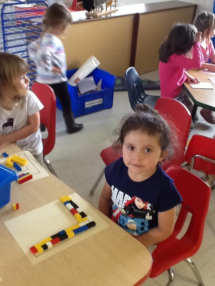 building letters with legos