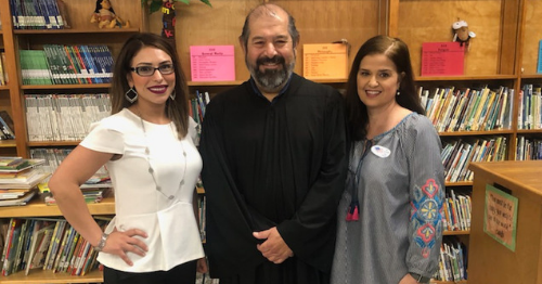 Judge Bobby Flores with Mrs. Quintanilla & Mrs. Luera