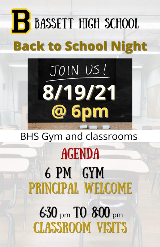 BHS Back to School Night