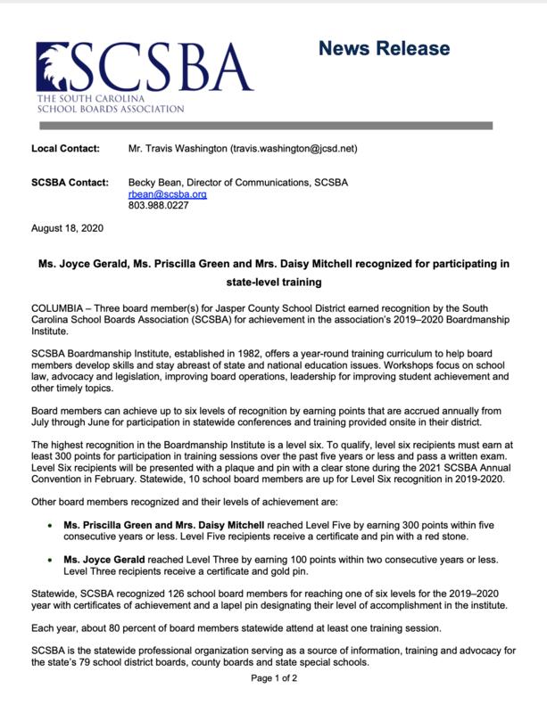 School board Honored
