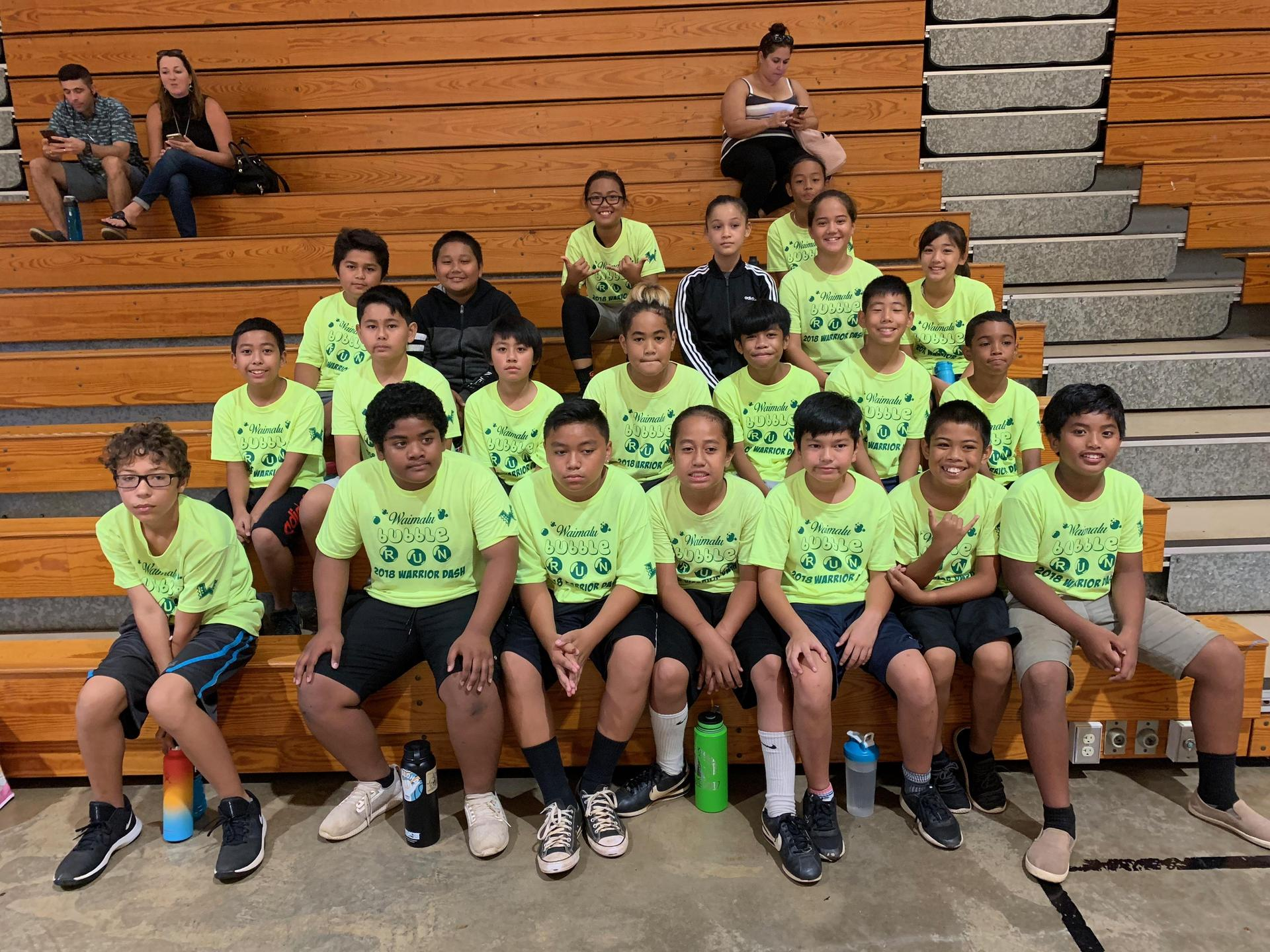 Photo of the volleyball team, school year 2019-20.