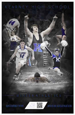 sports poster designed by students
